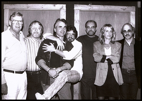 The four Forerunners w/ Pat Alger, Hank DeVito, and Hal Ketchum making BILLBOARD'S 1993 Country Single of the Year
