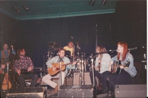 Herb's Forerunner showcase at Douglas Corner Cafe 1994: Dennis Crouch-bass, David Schnaufer-dulcimer, Herb, Kenny Malone-drums, Shawn Camp-mandolin, Joy Lynn White-vocals