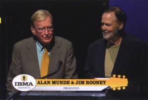 Jim and Alan announcing the Bill Keith induction