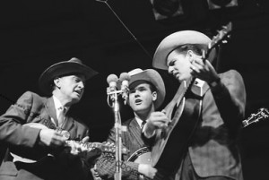 Bill Monroe, Bill Keith, Del McCoury[photo copyright John Byrne Cooke]