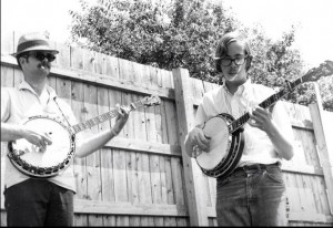 Bill Keith and Tony Trischka at Newport Folk Fest circa 1968 (photo thanks to Mark Sukoenig)