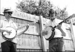 Bill Keith and Tony Trischka at Newport Folk Fest circa 1968 (photo thanks to Mark Sukoenig)
