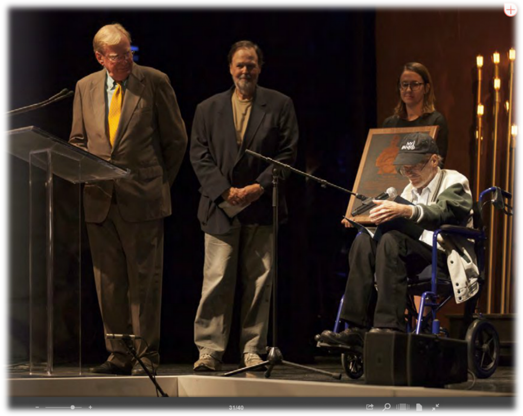 Bill Keith being inducted into IBMA Hall of Fame, October 2015